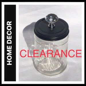 1Qt Glass Jar with Metal Lid and Decorative Knob